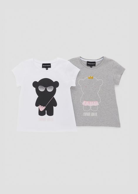 Set due t-shirt con stampe Manga Bear