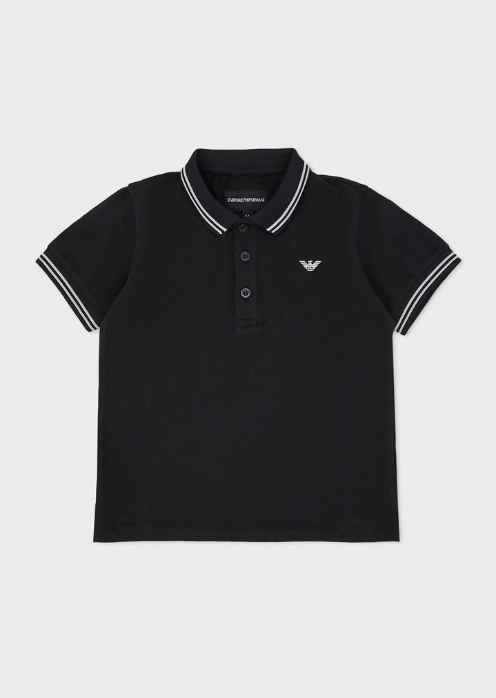 0a14138fdd Short-sleeved polo shirt with embroidered logo