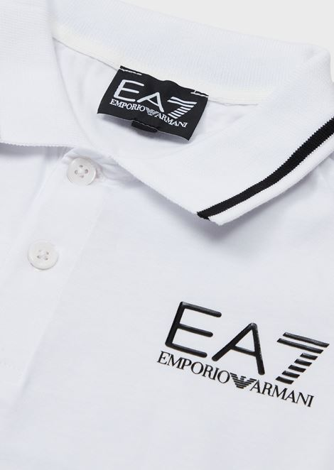 Boys' cotton piqué polo shirt
