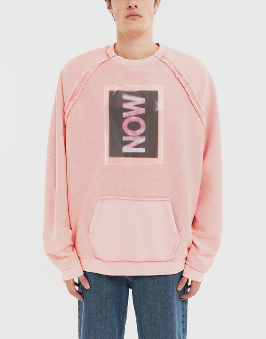 MAISON MARGIELA NOW print jersey sweatshirt Sweatshirt [*** pickupInStoreShippingNotGuaranteed_info ***] r