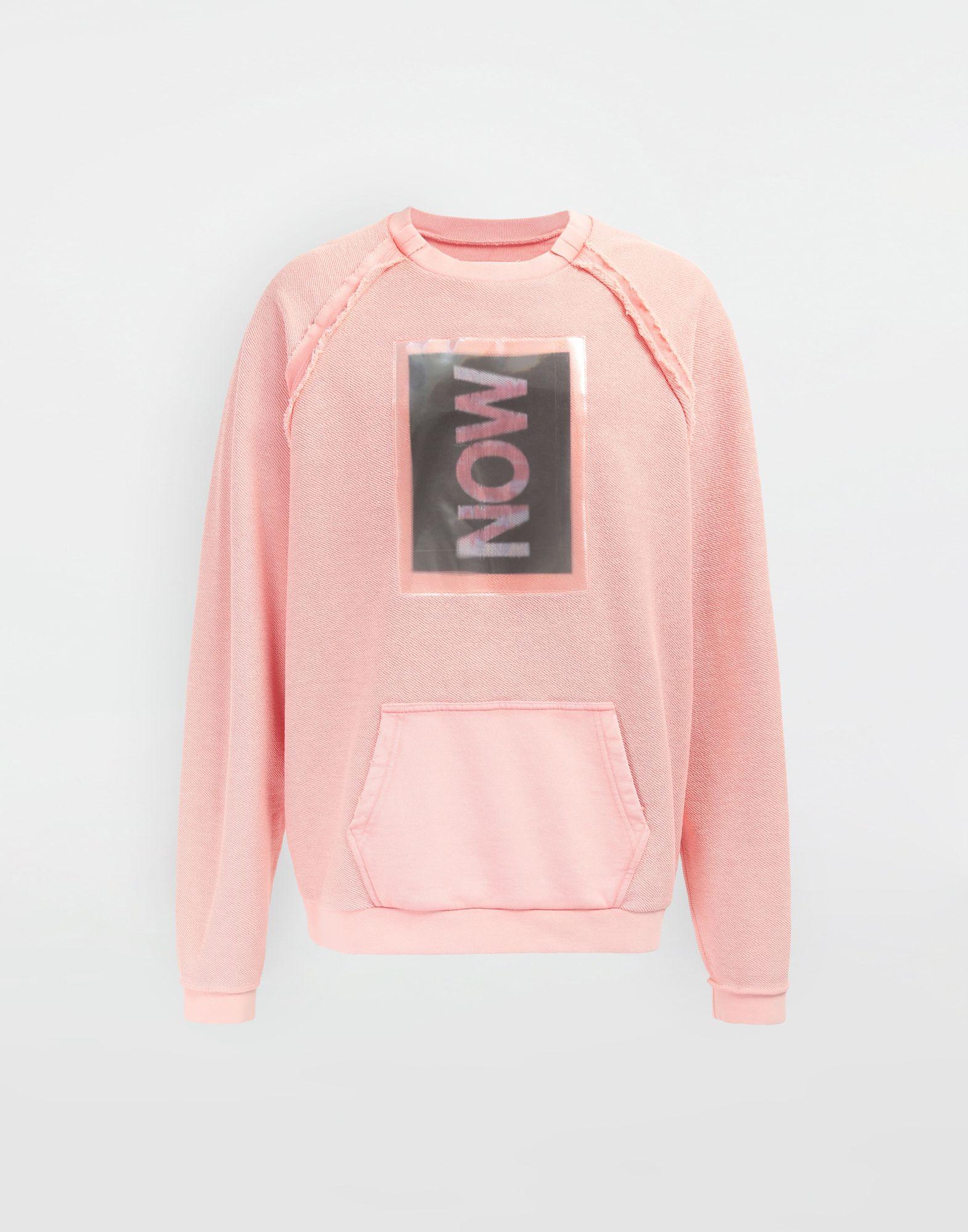 MAISON MARGIELA NOW print jersey sweatshirt Sweatshirt Man f