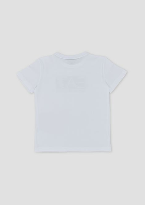 Camiseta de algodón con logotipo EA7 para niño