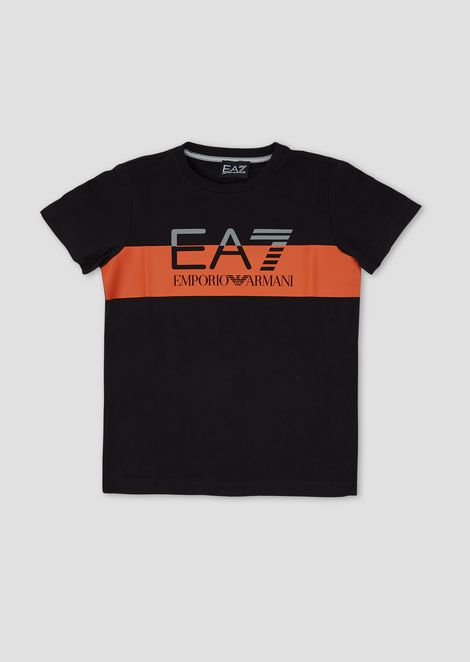 8ae696d2daff6 Boys  cotton T-shirt with EA7 logo