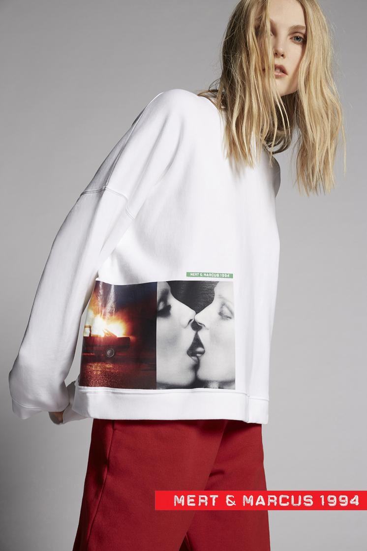 DSQUARED2 Mert & Marcus 1994 x Dsquared2 Slouch Sweatshirt  Sweatshirt Woman