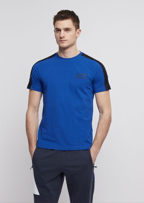 Train Logo stretch cotton T-shirt