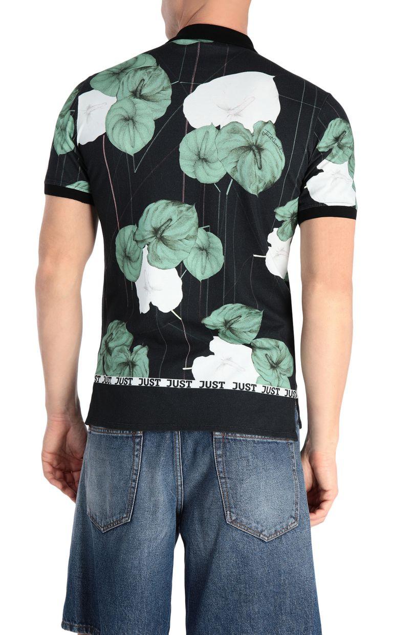 JUST CAVALLI Flamingo-flower-print polo shirt Polo shirt Man r