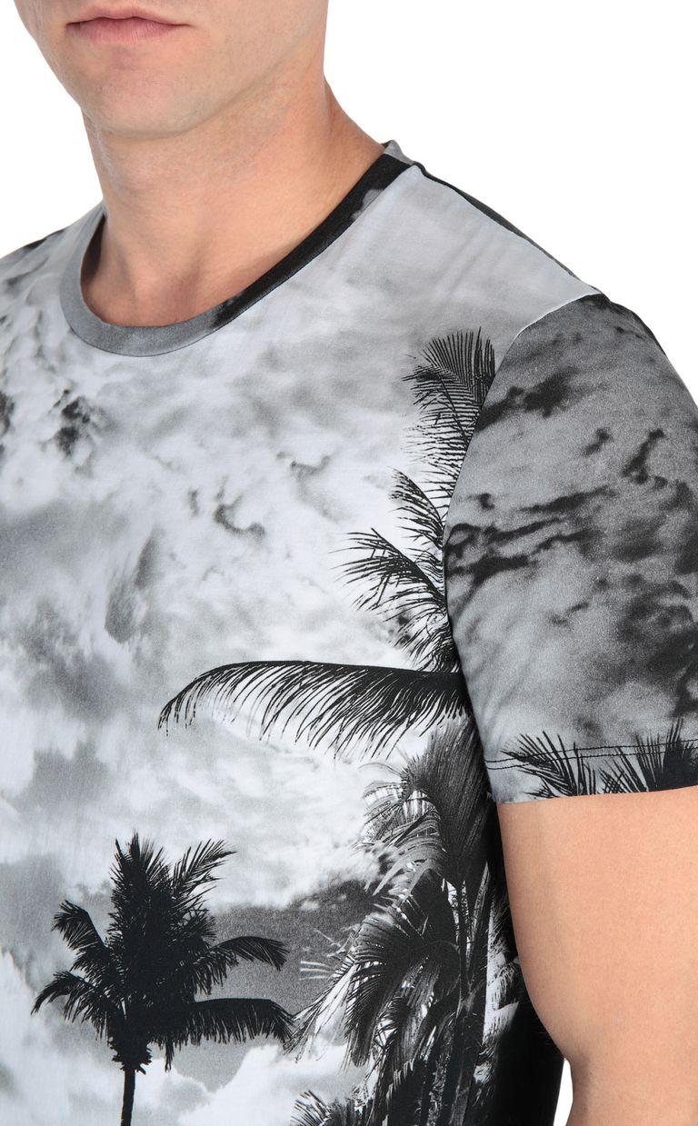 JUST CAVALLI T-shirt with surfer print Short sleeve t-shirt Man e