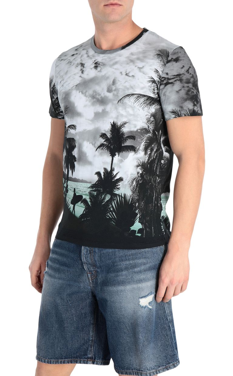 JUST CAVALLI T-shirt with surfer print Short sleeve t-shirt Man f