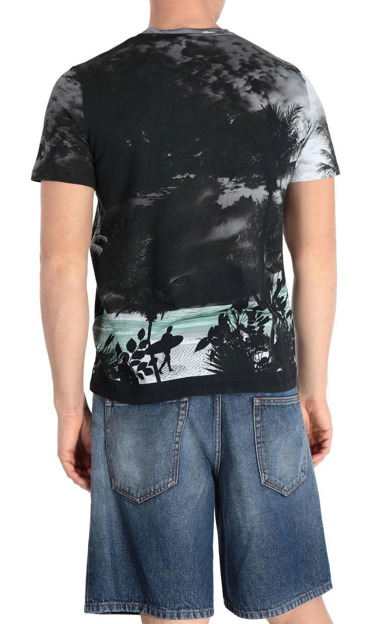 JUST CAVALLI T-shirt with surfer print Short sleeve t-shirt Man r