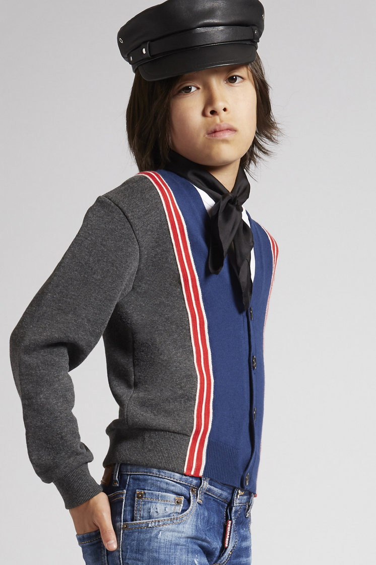 DSQUARED2 Striped Cardigan Sweatshirt Man