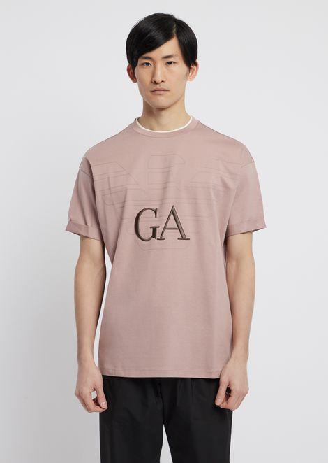 Tシャツ シルケットコットン製 ロゴ