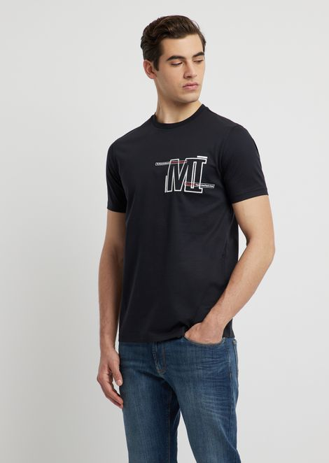 c0b19e92f02 T-shirt in cotone con stampa MI