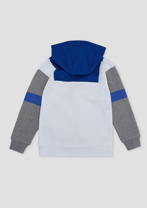 Boys' colour-block sweatshirt with hood