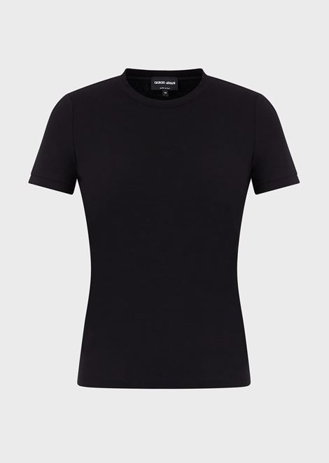 Stretch viscose jersey T-shirt