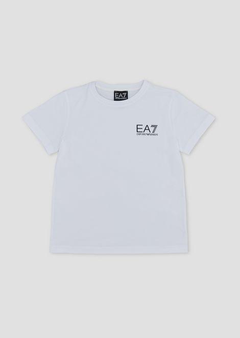 T-shirt garçon en coton avec logo EA7