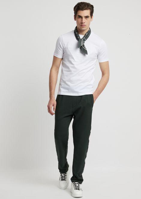 Camiseta de punto de algodón mercerizado
