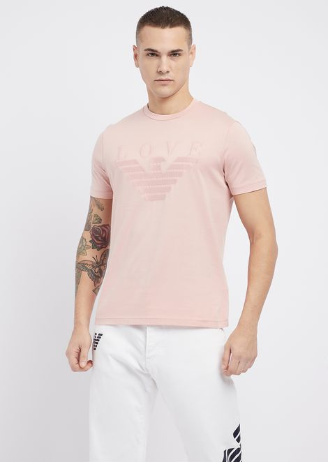 T-shirt in jersey di cotone mercerizzato