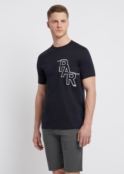 Cotton T-shirt with PAR print