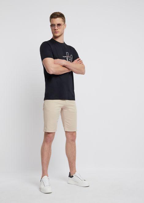 Cotton T-shirt with LA print