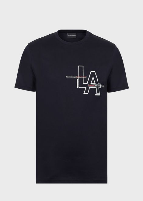 Cotton T-shirt with LA print