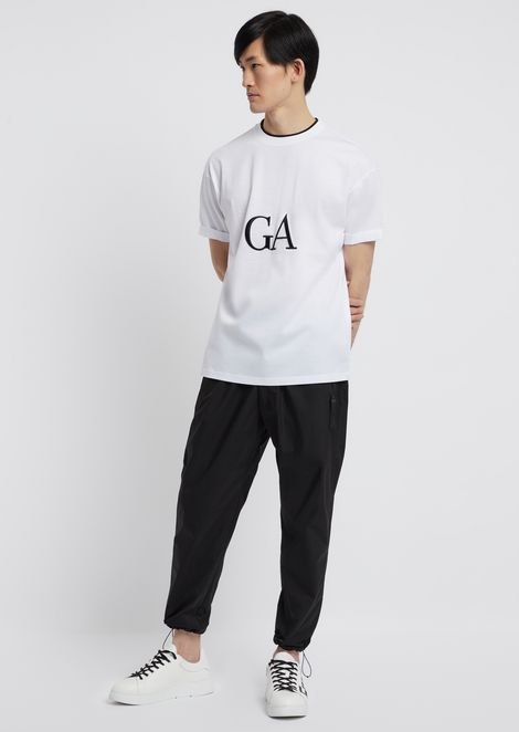 T-shirt in mercerised cotton with logo