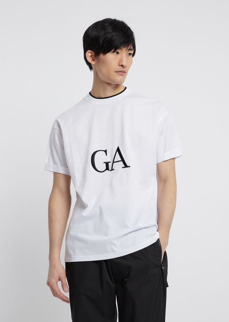 T-shirt in mercerized cotton with logo