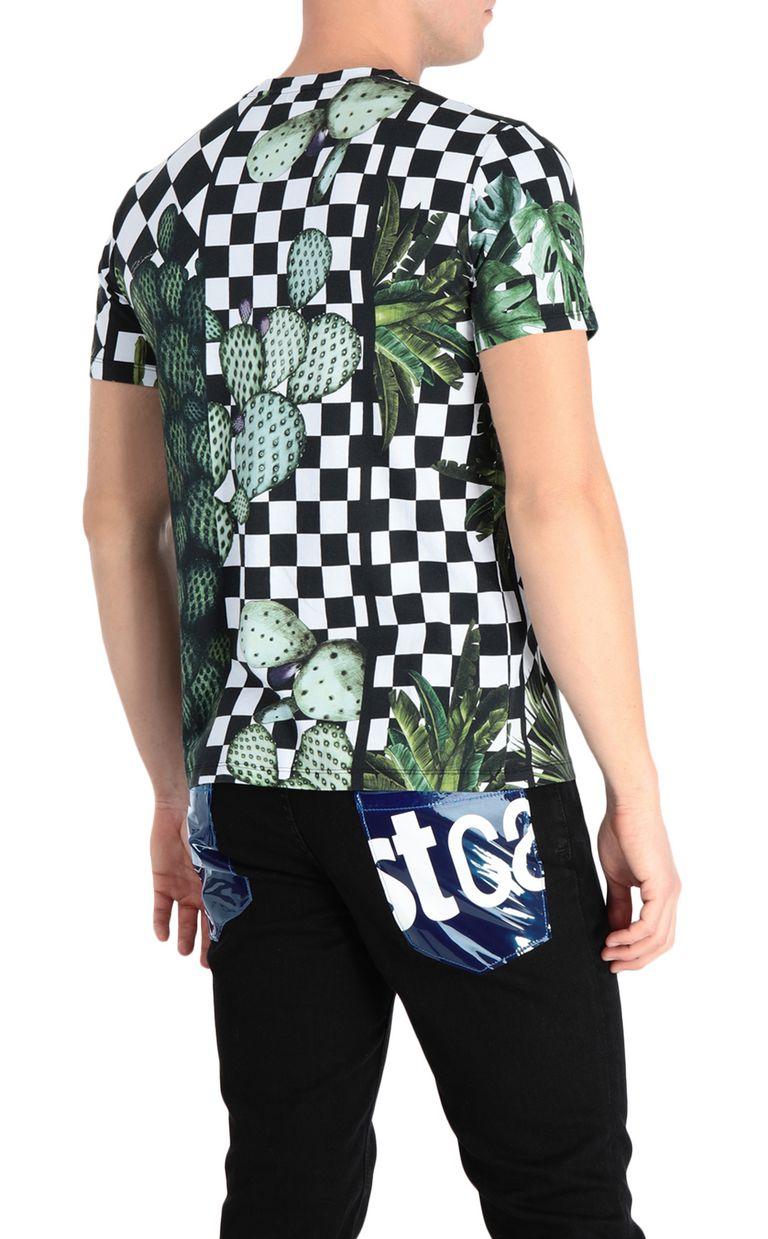 JUST CAVALLI T-shirt with garden-check print Short sleeve t-shirt Man r