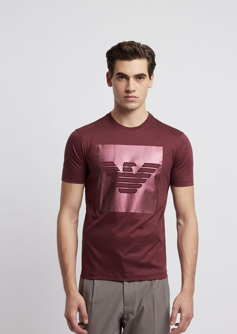 858cf05c51 Jersey T-shirt with pocket and branded edging | Man | Emporio Armani