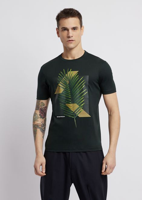 Cotton interlock jersey T-shirt with print