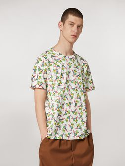 Marni T-shirt in jersey di cotone leggero stampa by Bruno Bozzetto Uomo
