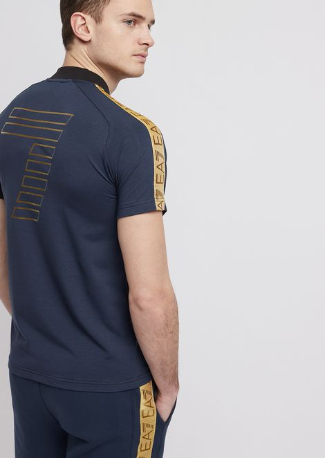 Soccer Archive polo with shoulder stripes