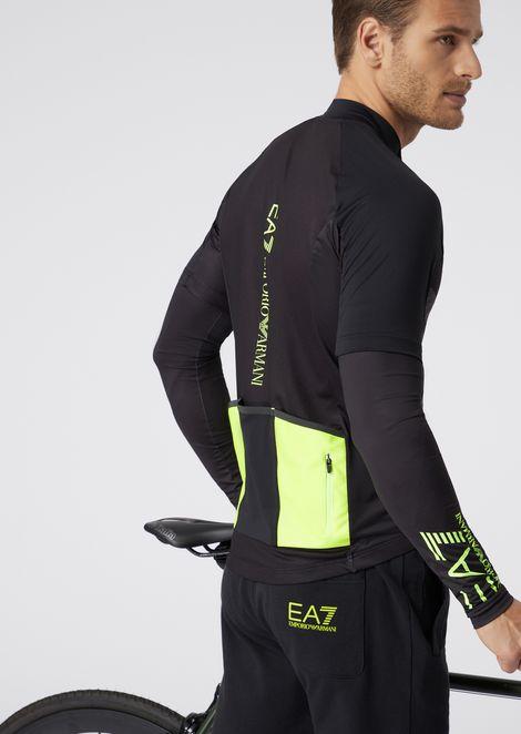 Maglia da ciclismo in jersey bielastico con maniche removibili