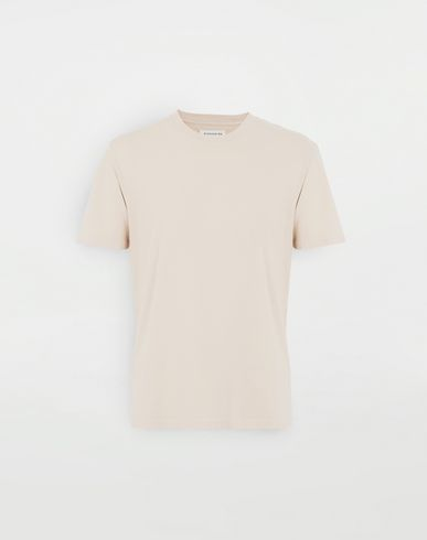TOPS Cotton T-shirt Beige