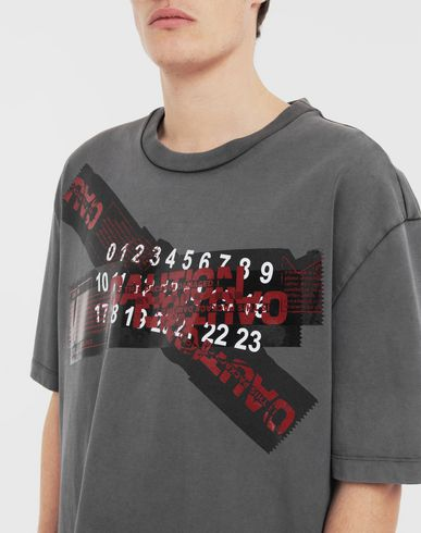 TOPS 'Caution' T-shirt  Grey