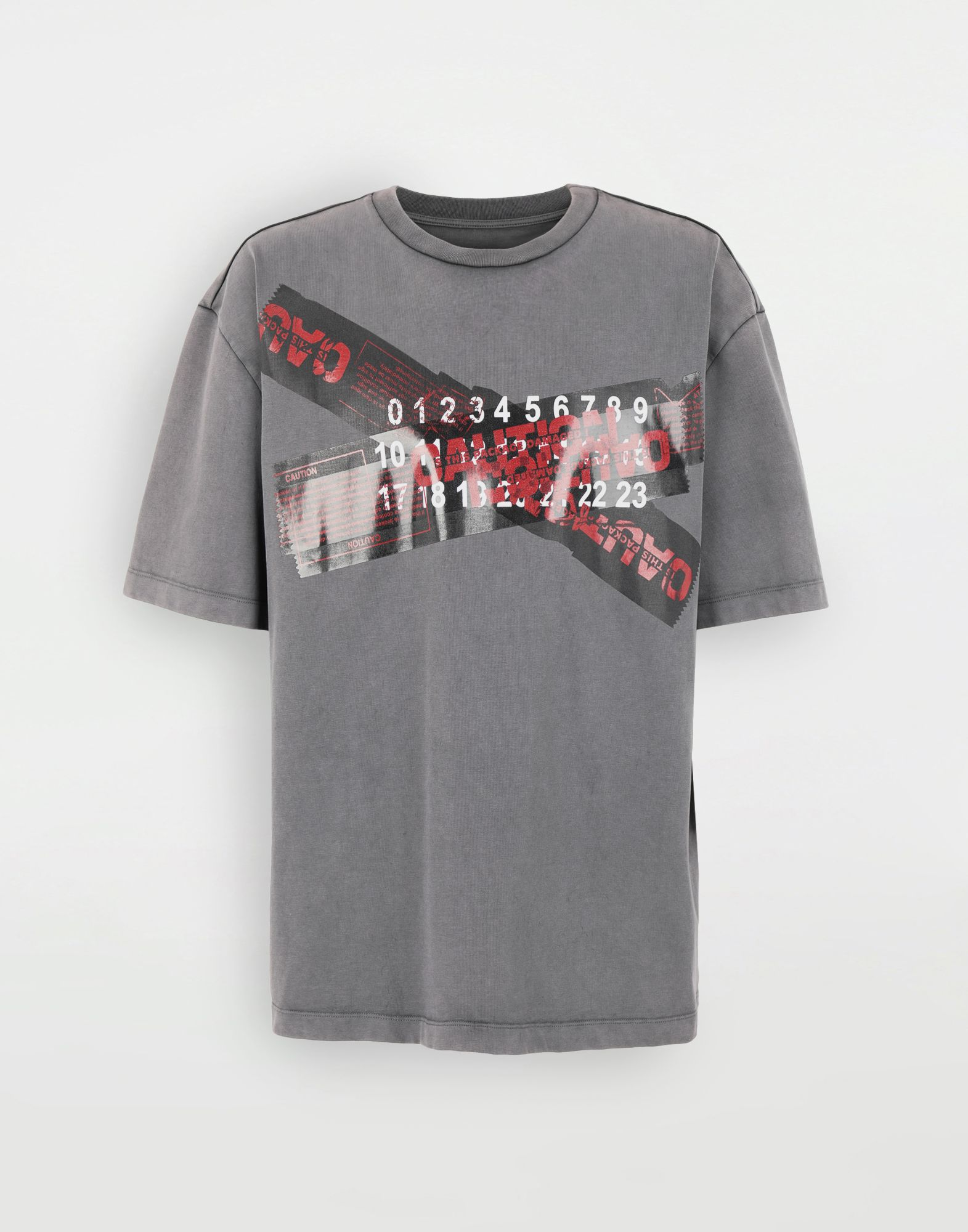 MAISON MARGIELA 'Caution' T-shirt Short sleeve t-shirt Man f