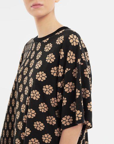 TOPS & TEES Polka dot flower-print jersey shirt