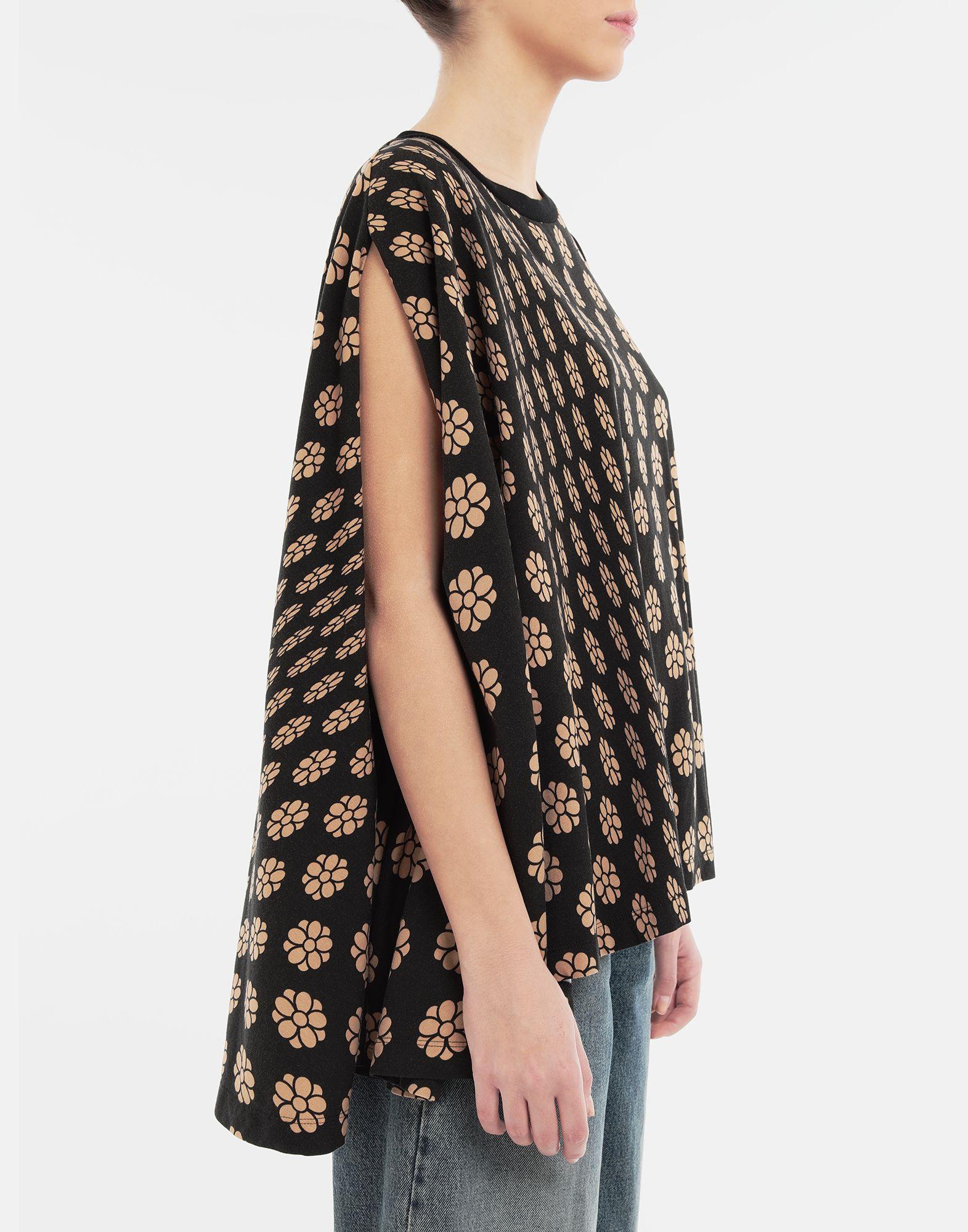 MM6 MAISON MARGIELA Polka dot flower-print jersey shirt Short sleeve t-shirt Woman b