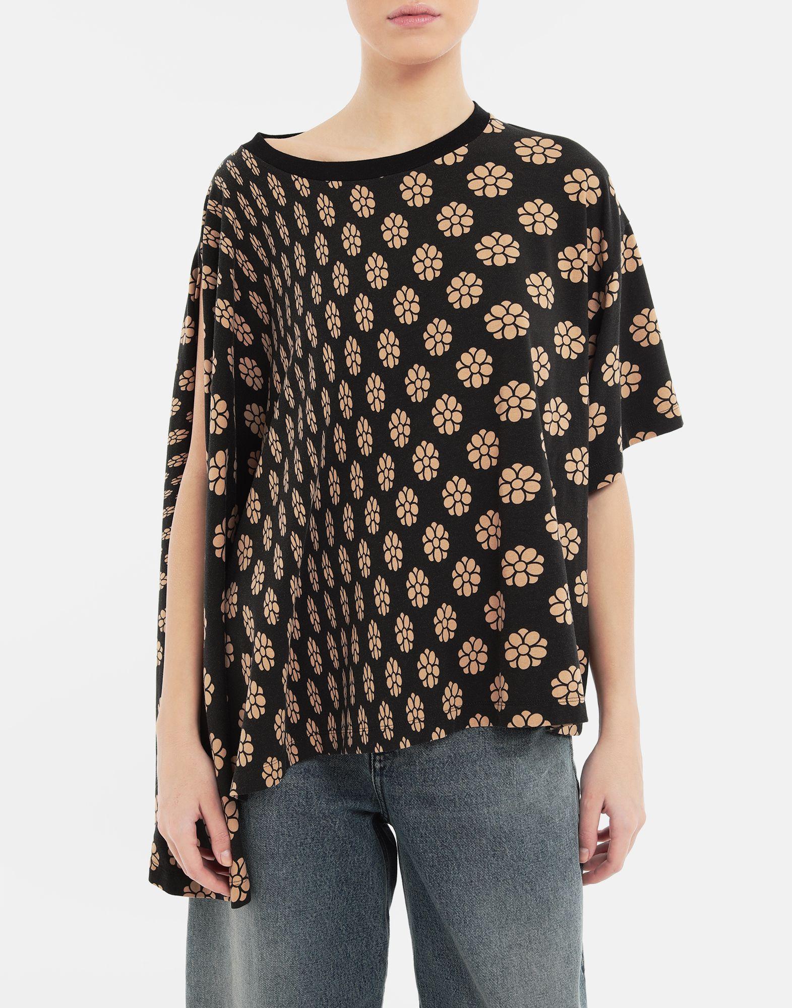 MM6 MAISON MARGIELA Polka dot flower-print jersey shirt Short sleeve t-shirt Woman r