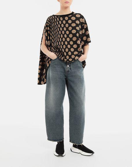 MM6 MAISON MARGIELA Polka dot flower-print jersey shirt Short sleeve t-shirt Woman d