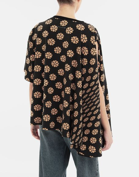 MM6 MAISON MARGIELA Polka dot flower-print jersey shirt Short sleeve t-shirt Woman e