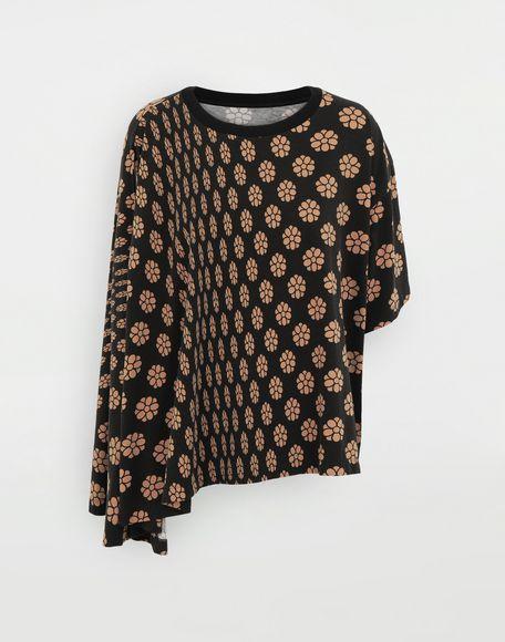 MM6 MAISON MARGIELA Polka dot flower-print jersey shirt Short sleeve t-shirt Woman f