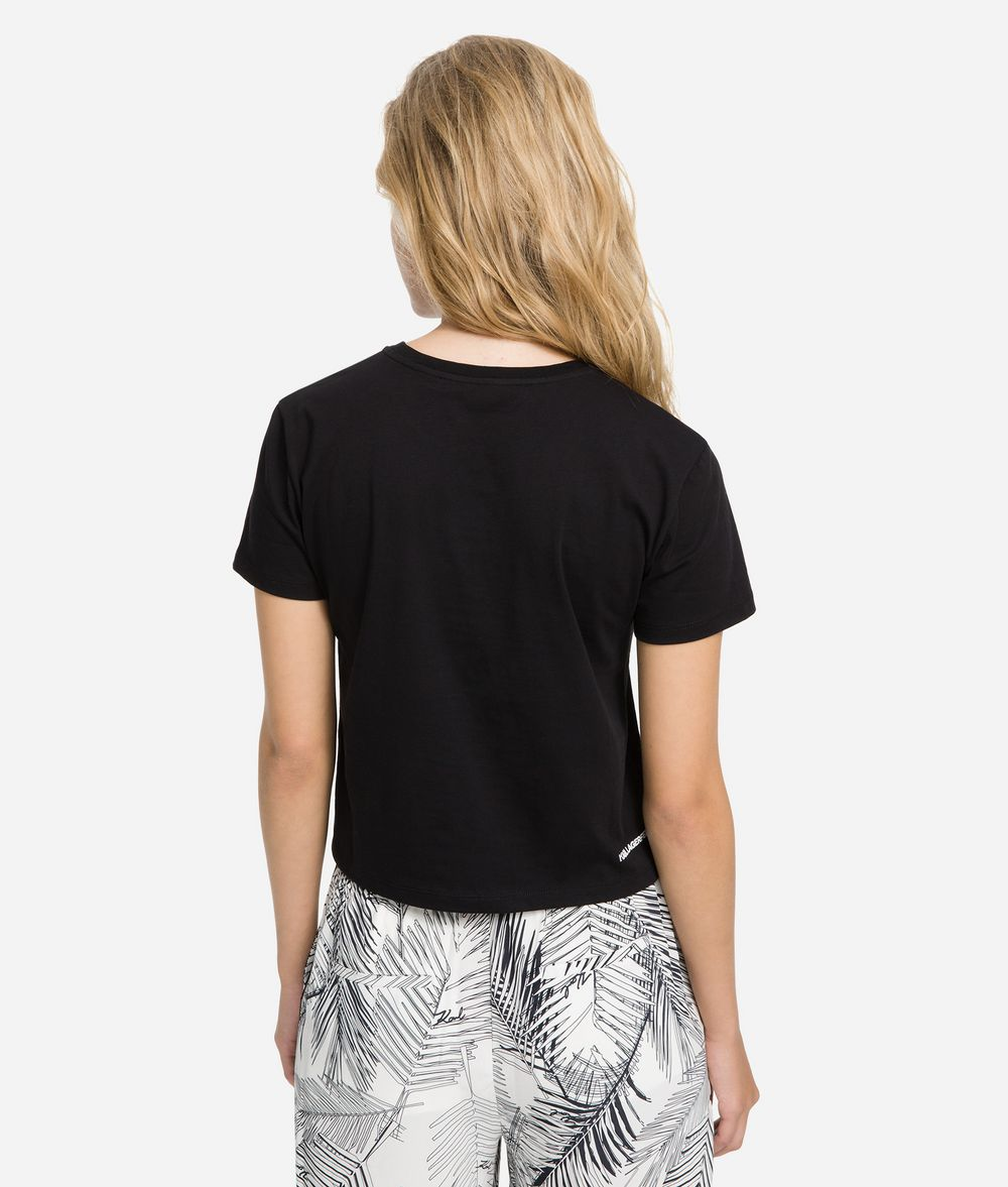 KARL LAGERFELD K/Karlifornia Cropped T-Shirt T-shirt Woman d