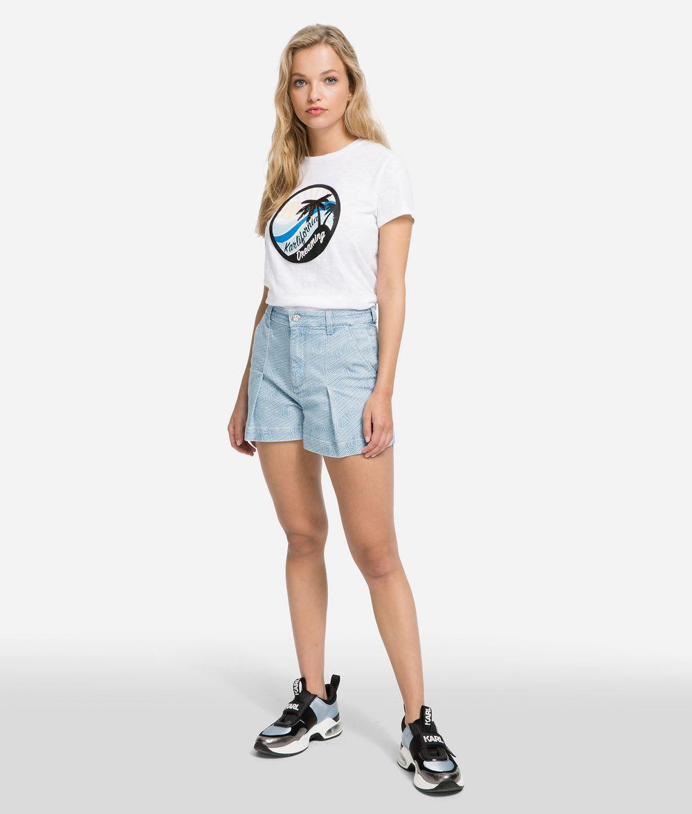 KARL LAGERFELD K/Karlifornia Printed T-Shirt T-shirt Woman f