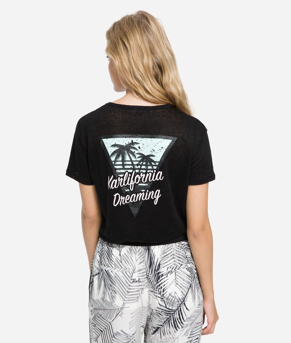 KARL LAGERFELD K/Karlifornia Pocket T-Shirt T-shirt Woman d