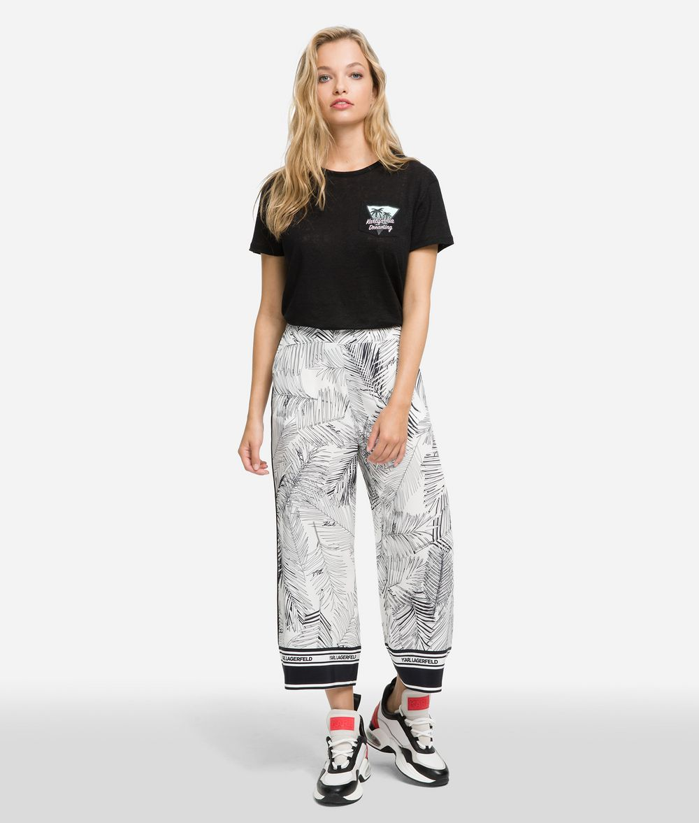 KARL LAGERFELD K/Karlifornia Pocket T-Shirt T-shirt Woman f