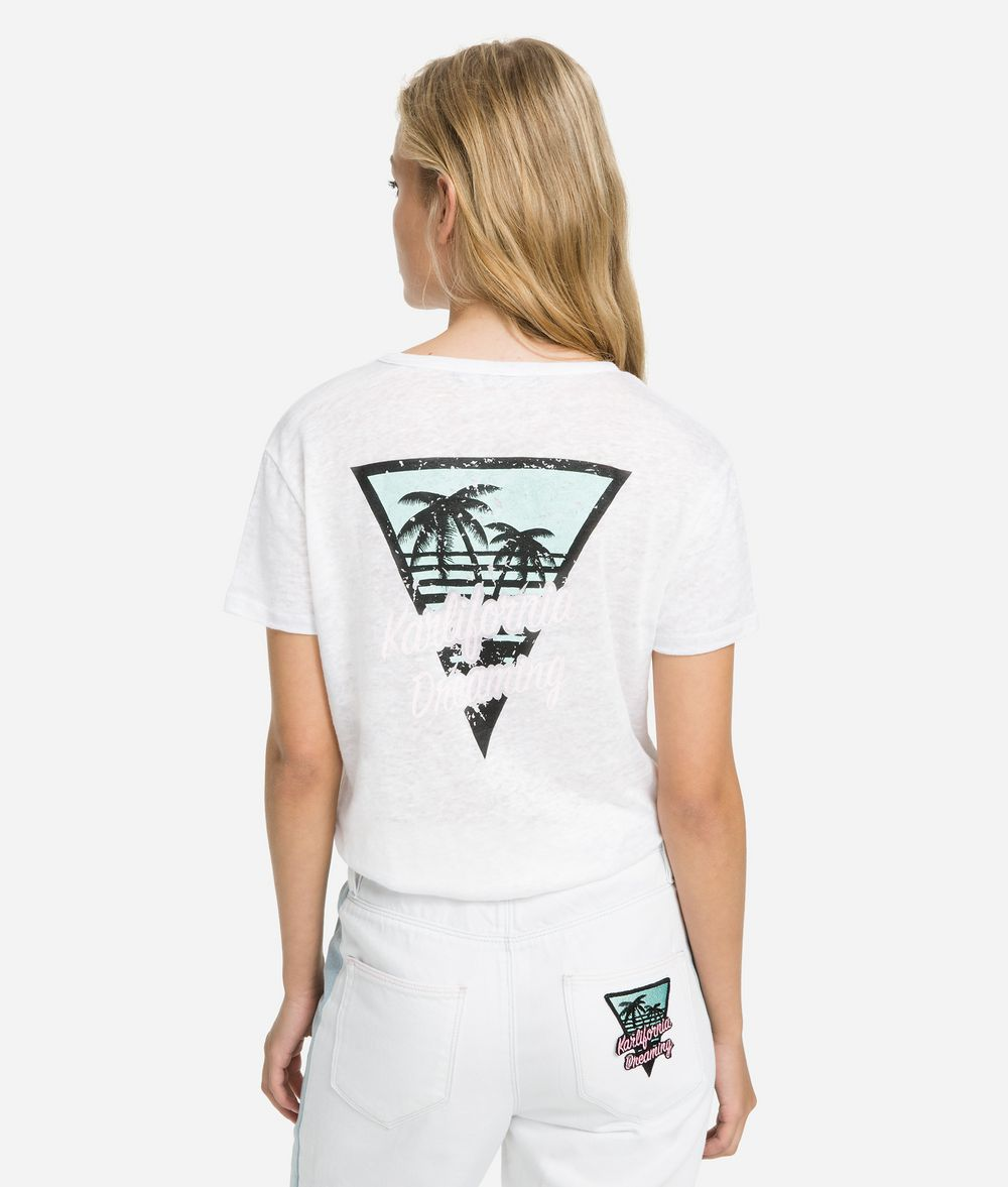 KARL LAGERFELD T-shirt à poche K/Karlifornia T-shirt Femme d