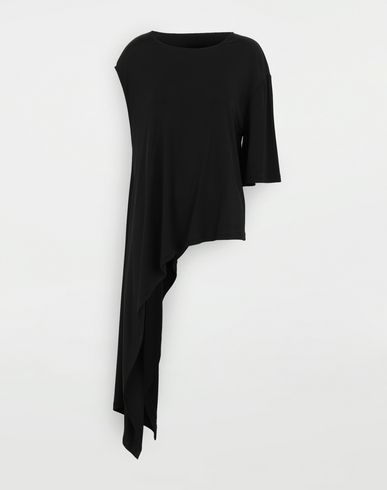 TOPS & TEES Asymmetric top Black