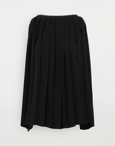 TOPS & TEES Pleated top Black