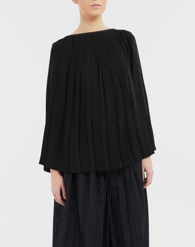 TOPS Pleated top Black