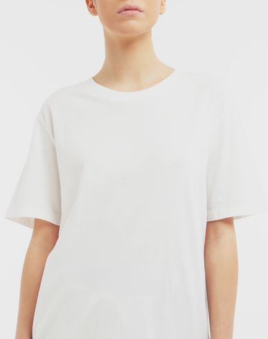 TOPS Back logo print T-shirt White